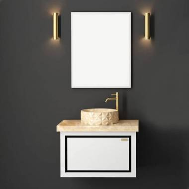 کابینت روشویی دیواری فول ست سفید فیورنزا
