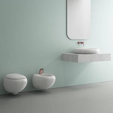 توالت فرنگی دیواری سفید استراتا بوچی