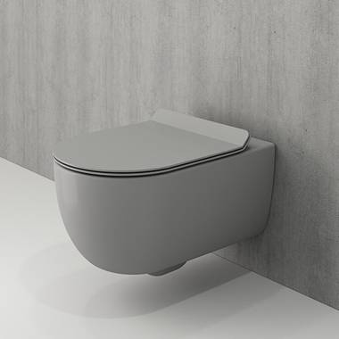توالت فرنگی دیواری طوسی و-تندو بوچی