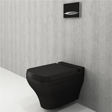 توالت فرنگی دیواری مشکی اسکالا بوچی