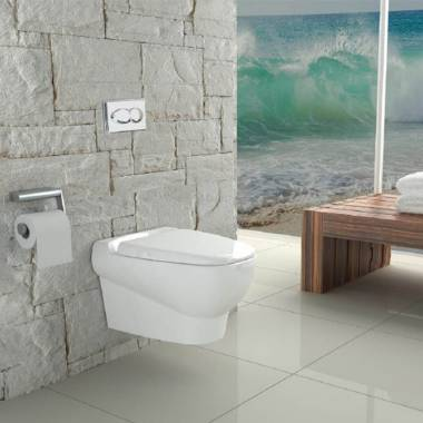 توالت فرنگی دیواری پارمیس گلسار فارس