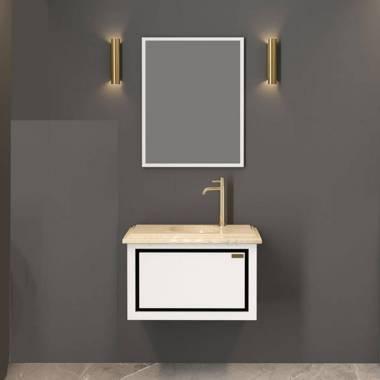 کابینت روشویی سفید کرم نمین فیورنزا