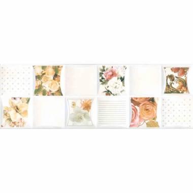 کاشی SSD-412 لاریستا گل سفید کد سمنان